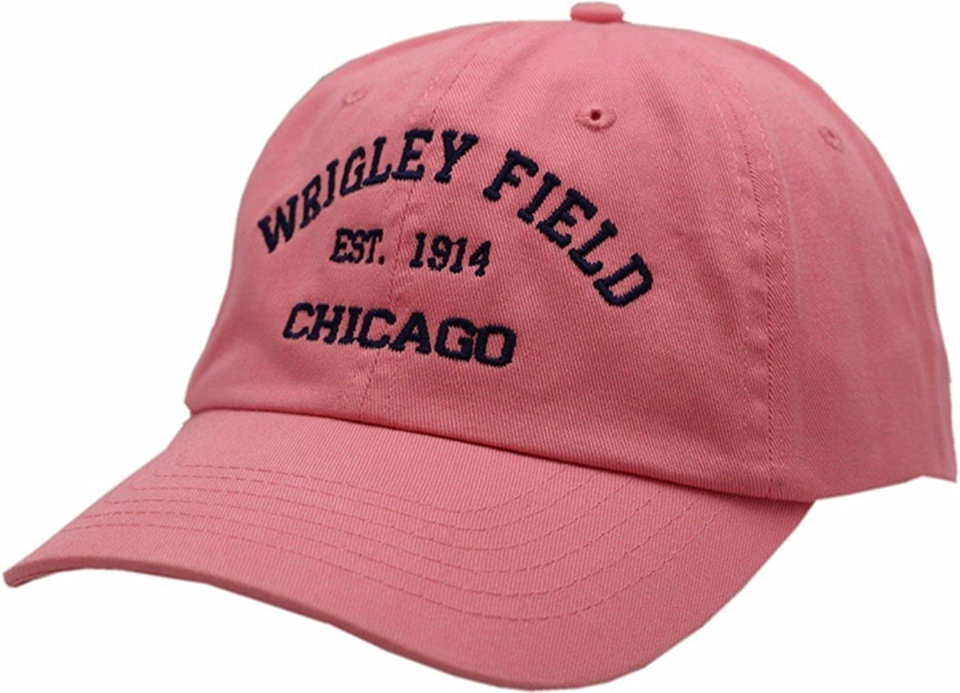 241d4b9b3694c Peerless Embroidery Company Wrigley Field EST 1914 Hat Buckle Back Pink at  Amazon Women s Clothing store