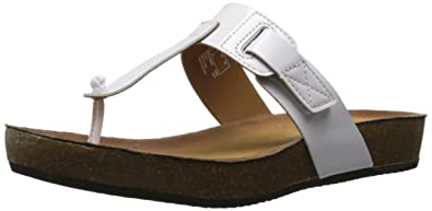 Clarks Women's Aeron Rhys Toe Ring Sandal, White, ...