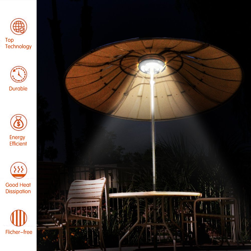 Umbrella Pole Light, ANENER Parasol LED Lights, Outdoor Lights for Easter, Large Size with 24 LED for Patio Umbrellas, Outdoor Use, Camping Tents, etc. (24 LED) by ANENER (Image #7)