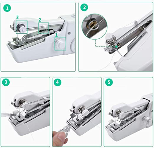 Máquina de coser portátil, mini máquina de coser de bricolaje ...