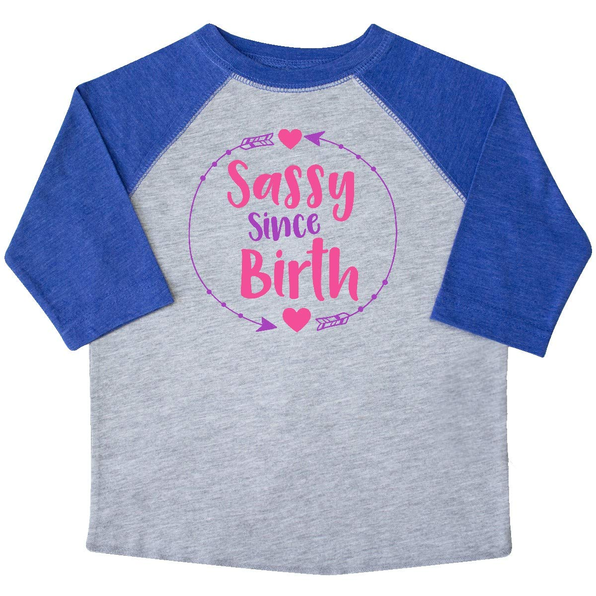 Pink Purple Toddler T-Shirt Arrows Hearts inktastic Sassy Since Birth