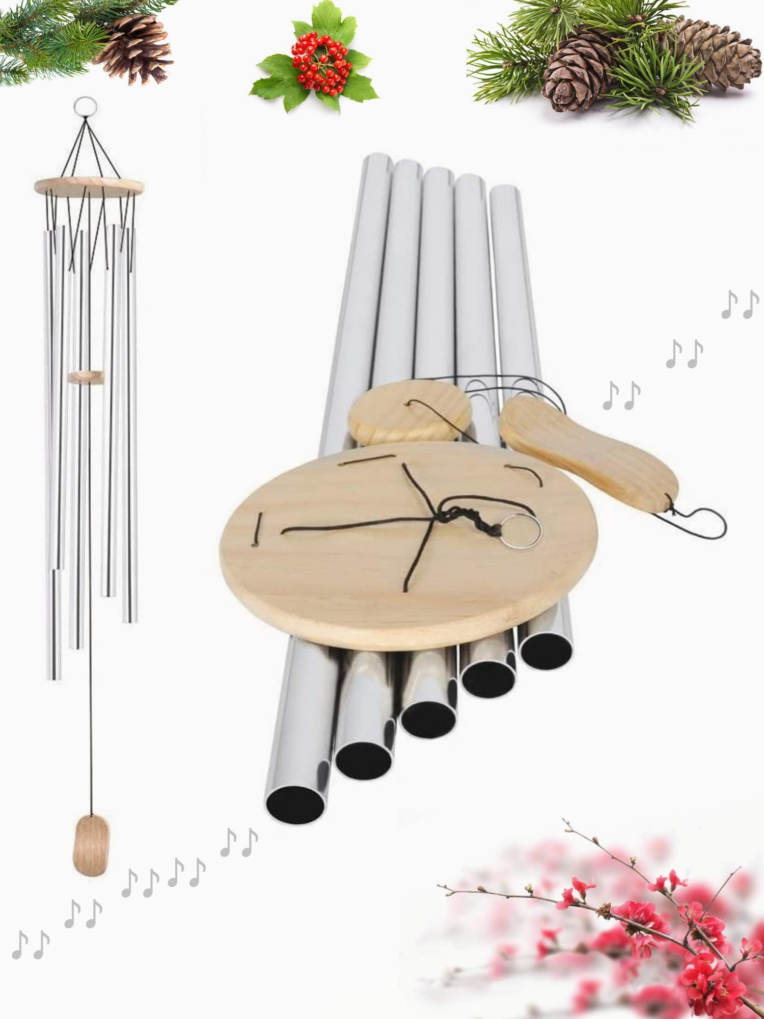 """SoB 57"""" Big Extra Large Wind Chimes Outdoor Deep Tone Bass Tuned Resonant Sound Like Church Bell, Windchimes Unique Outdoor Clearance Memorial Sympathy Outdoor Decoration for Garden Patio Porch Home"""