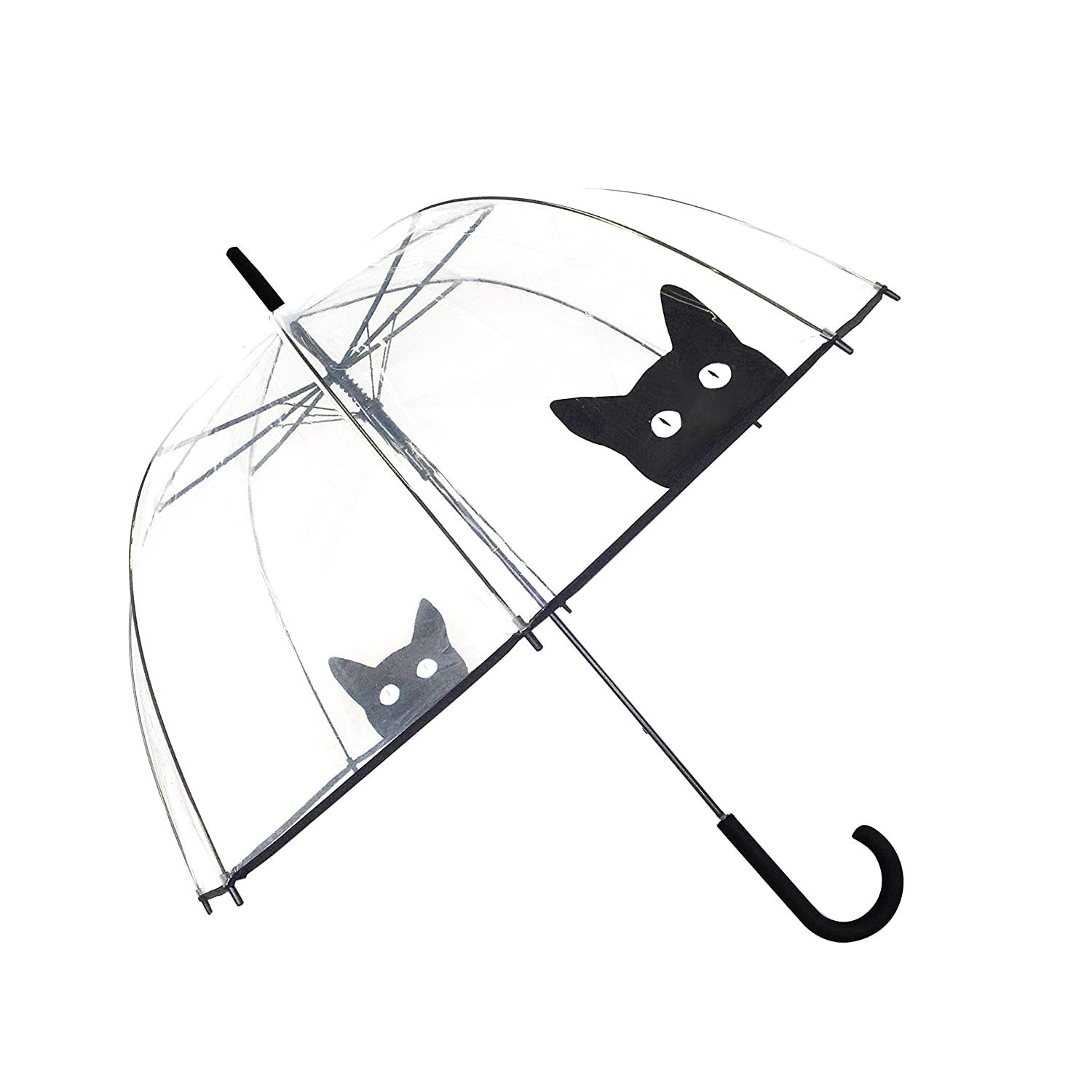 SMATI Stick Umbrella Clear dome Winproof(The Enhanced Edition Dog) - Auto Open - for Women and Kids