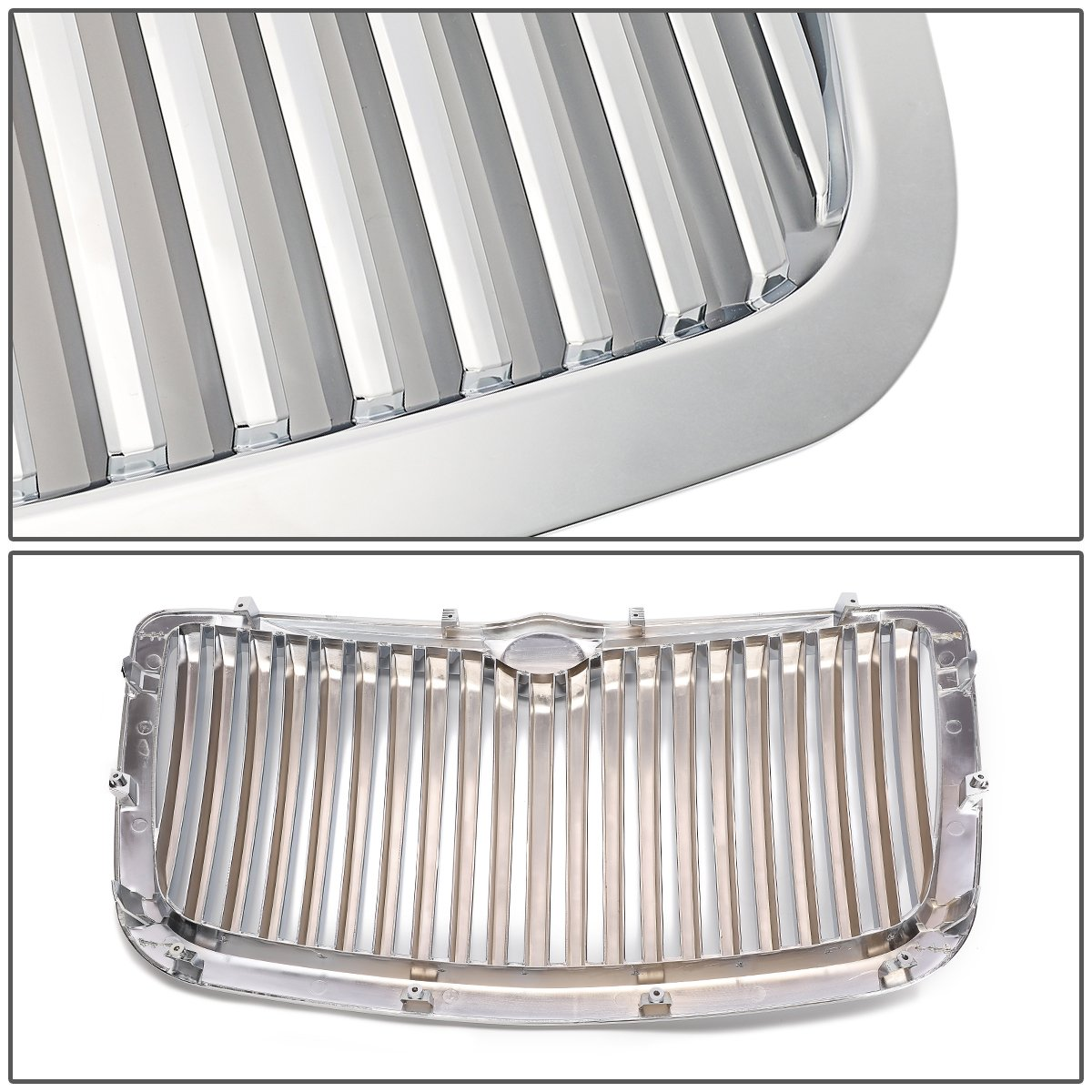 For 04-10 Chrysler 300//300C DNA Motoring GRF-017-CH Front Bumper Grille Guard