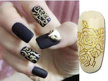 Buy Relipop 108 One Sheet Golden 3d Flower Nail Art Stickers Decals