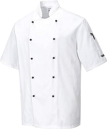 color Blanco Portwest C775 Chaqueta Chef Cambridge talla Small