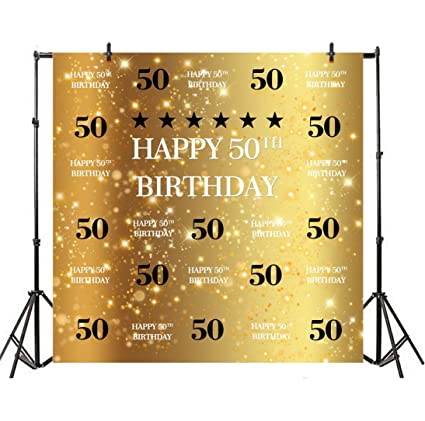 Amazon Com Leyiyi 4x4ft Photography Background Happy 50th Birthday