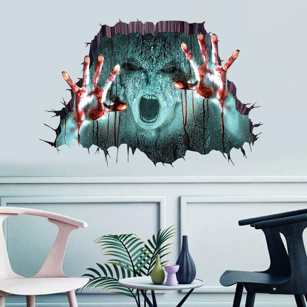 3D Zombies Halloween Home Bedroom Decor Removable Wall Sticker Decal Decoration