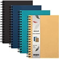 EOOUT 4 Pack A5 Spiral Notebook, Hardcover College Ruled Notebooks, 3 Subject Notebook with Removable dividers, 4…