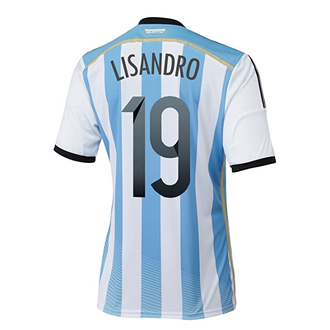 ea50d21c5a9 Amazon.com  Adidas LISANDRO  19 Argentina Home Jersey World Cup 2014 ...
