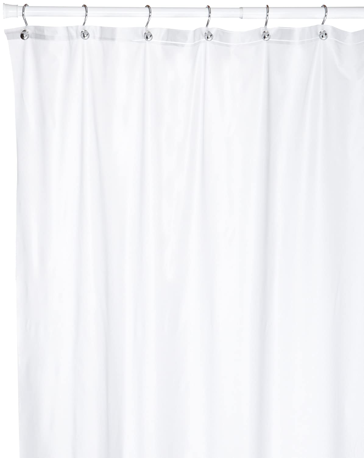 Amazon.com: Carnation Home Fashions 72 Long By 108 Inch Wide Extra Wide  Vinyl Shower Curtain, Frosted Clear: Home U0026 Kitchen