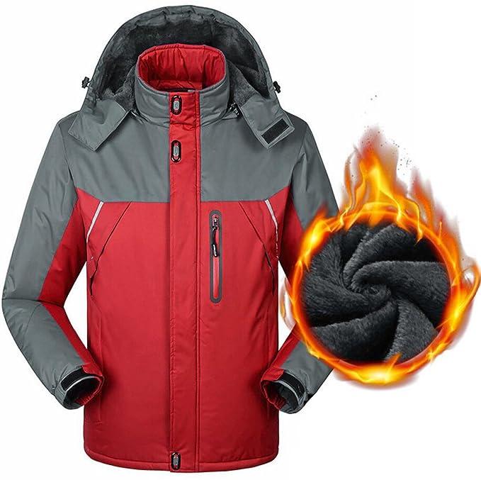 Chaqueta De Los Hombres De Invierno Más Abrigo De Terciopelo Grueso Chaqueta Impermeable De Alpinismo Al
