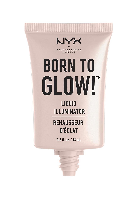 NYX PROFESSIONAL MAKEUP Born To Glow Liquid Illuminator, Pure Gold, 0.60 Ounce
