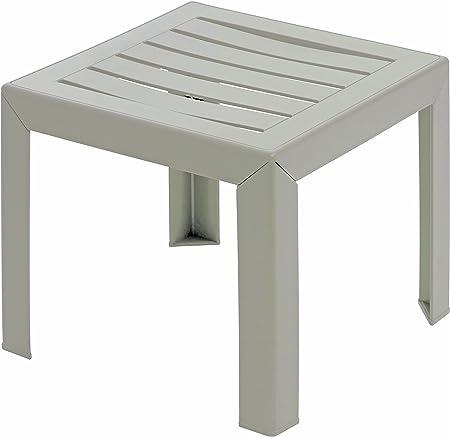 GROSFILLEX Miami Table, Lin, 40 x 40 cm