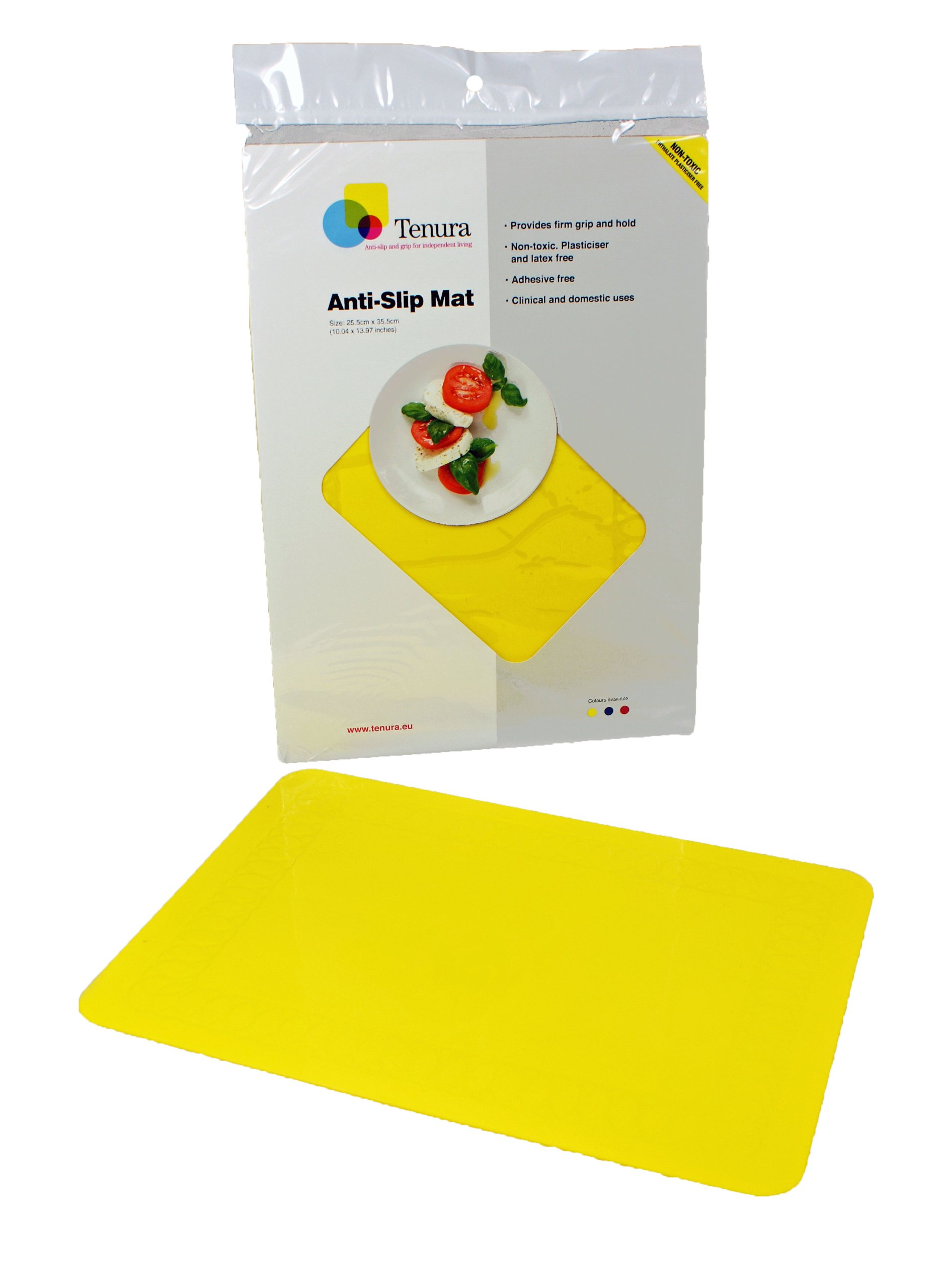Tenura 75373-3503 Yellow Silicone Non-Slip Table Mat, 13-3/4'' Length x 10'' Width