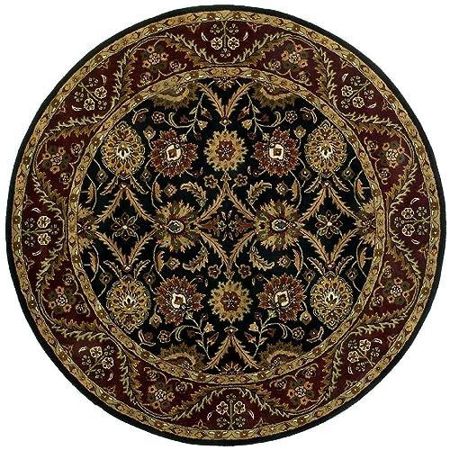 Traditions Morris Round Rug, 8 x 8 , Black