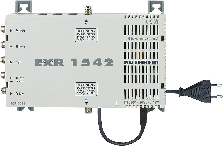 Kathrein Exr 1542 Satelliten Zf Verteilsystem Einkabel Multischalter 1 Satellit 2x4 Teilnehmeranschlüsse Klasse A Heimkino Tv Video