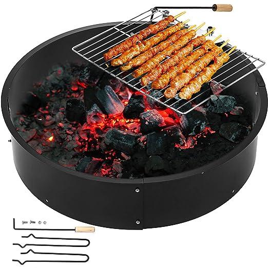 Moracle Fire Pit Q235 Brasero Exterior Calentador de Fuego Cuenco ...
