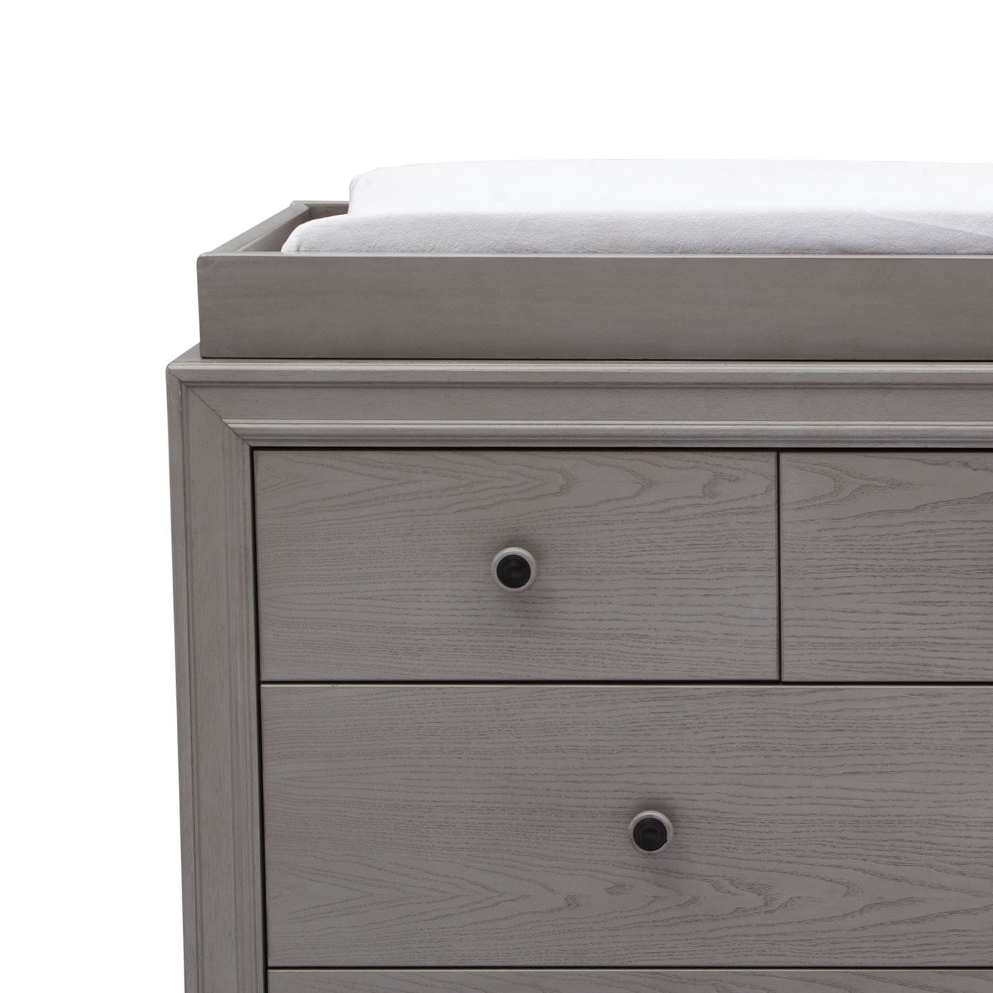 Storm Grey Convertible Crib, Dresser, Chest, Changing Top, Toddler Guardrail, Full Size Conversion Simmons Kids Ravello 6-Piece Nursery Furniture Set
