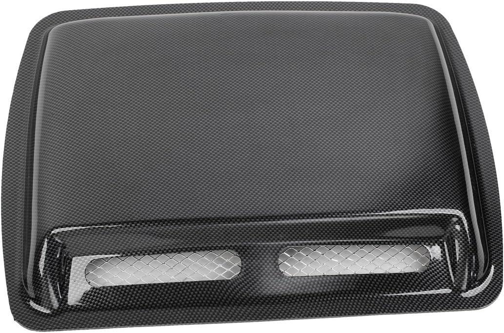 uxcell/® Auto Car Air Flow Mesh Hole Hood Scoop Decoration Black 42 x 32 x 5cm