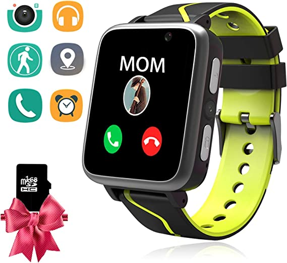 Kids Smart Watch with MP3 Player, Student Music Smartwatch Phone with 2 Way Calls LBS Tracker Camera SOS Flashlight Alarm Clock Sport Wristband ...