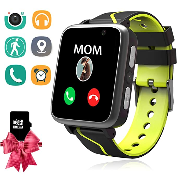 Kids MP3 Players Music Watch - Smart Watch with MP3 Music Player [1GB Micro SD Included] FM Pedometer Fitness Smartwatch Camera FM SOS Alarm Clock ...