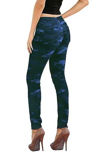 HyBrid   Company pantalones vaqueros del dril de algodón para mujeres 7  Camou de la Marina 6a1de5512aa9