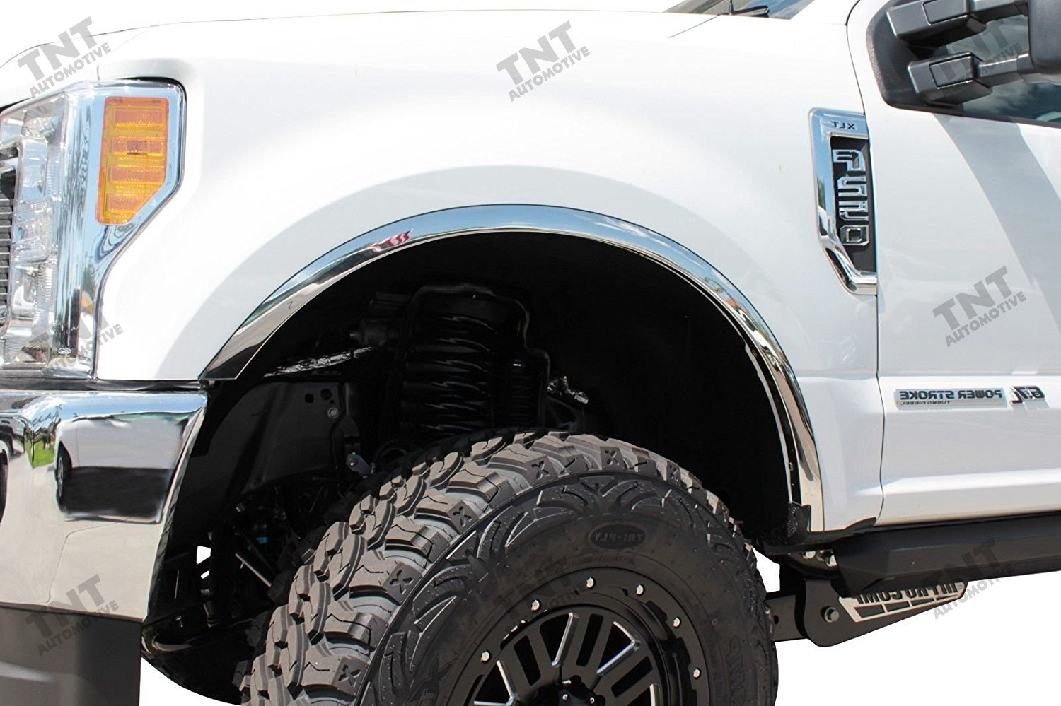 Carrichs 2017-2018 Ford F250 F350 Super Duty Stainless Steel Fender Trim (No Dually)