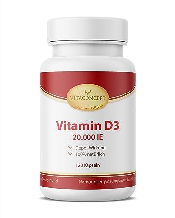 Vitamin D3 20000 Ie Depot Nur Eine Tablette Alle 20 Tage 120