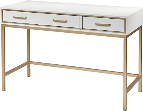 Sterling Home Sands Point White and Gold Desk