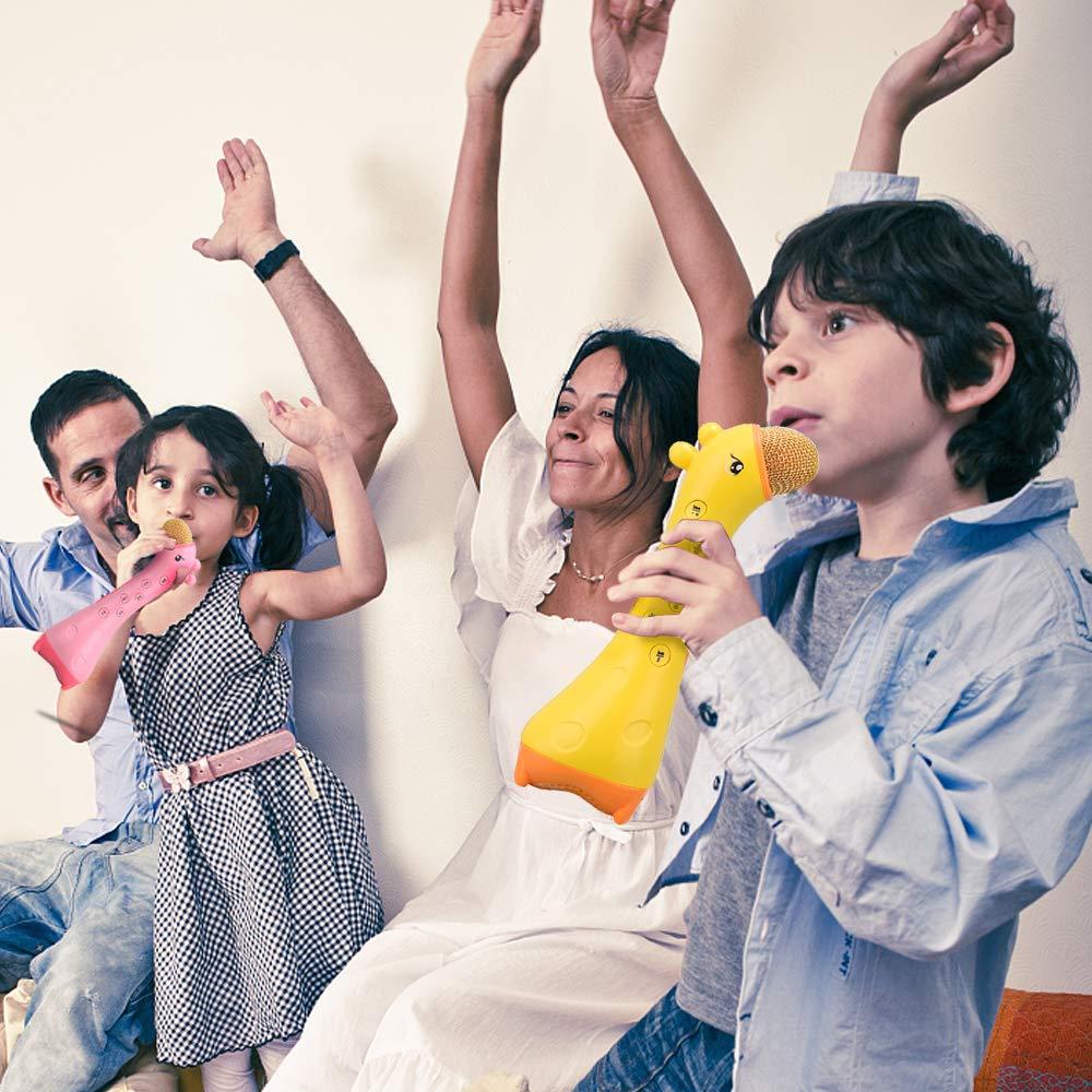 ALANGDUO Kids Microphone, Wireless Bluetooth Karaoke Microphone Magic Sound, Portable Handheld Karaoke Speaker Machine for Boys Girls Toddlers Home KTV Outdoor Party by ALANGDUO (Image #6)