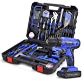 jar-owl Power Tools Combo Kit, Tool Set with 53Pcs Accessories, 21V Cordless Drill Set Household Hand Tool Kit with…