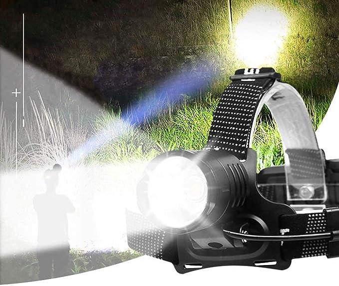 78B9 WaterResistant Headlight Torch Strong Light Headlamp Head Torch Lamp