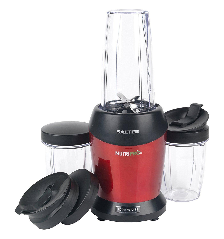 Salter NutriPro Frullatore, Potenza: 1000W, 25.000 Giri al minuto, BPA Free, Include: 1 bottiglia da 1000ml, e 2 da 800ml, Prepara velocemente succhi e frullati ricchi di proprietà nutritive EK2002-IT