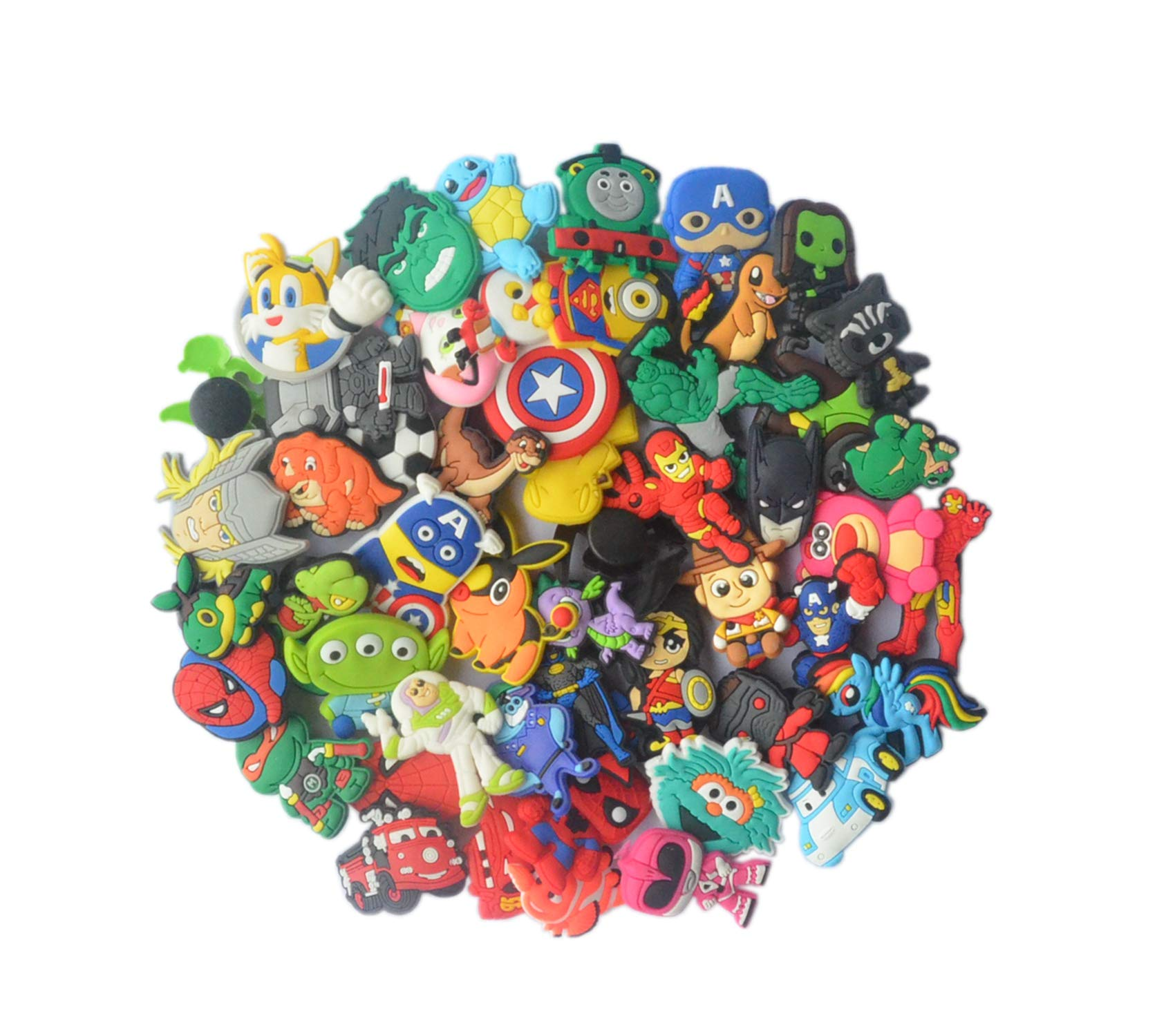 e2f9a890d Lot of 50 PVC Different Shoe Charms for Croc   Jibbitz Bands ...