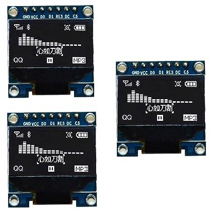 IZOKEE 0 96'' I2C IIC SPI Serial 12864 128X64 Pixel OLED LCD Display Shield  Board Module SSD1306 Chip 7 Pin for Arduino Display Raspberry Pi 51 Msp420