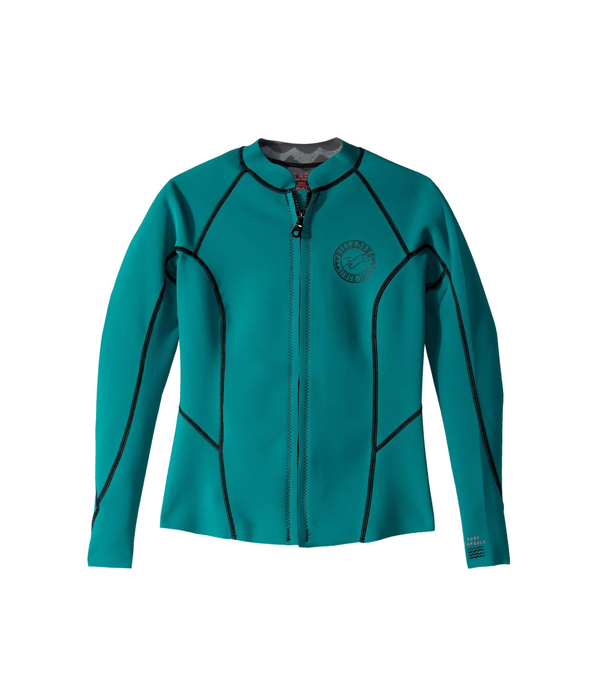 Billabong Women's Peeky Wetsuit Jacket, Palm Green, 10 by Billabong