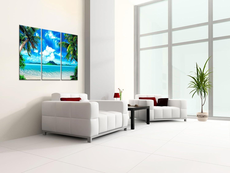 Amazon.com: Large Canvas Print Wall Art - CARIBBEAN ISLAND - 48x30 ...