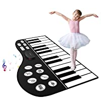 Deals on M SANMERSEN 71-inch Piano Keyboard Mat 24 Keys Piano Play Mat