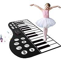 "M SANMERSEN Piano Mat, 71"" Piano Keyboard Mat 24 Keys Piano Play Mat with Record, Input, Playback Function Electronic Dance Mats Best Gift for Boys Girls Kids"