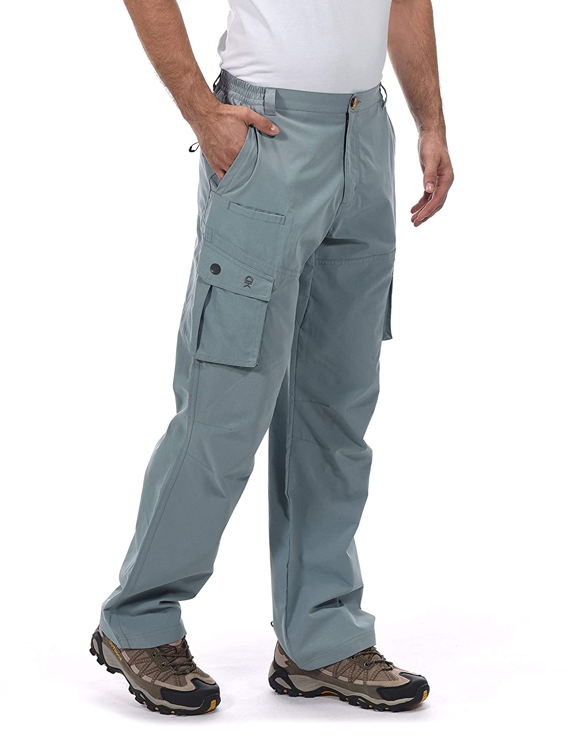 Little Donkey Andy Men/'s UPF 50 Moisture Wicking Hiking Pants Lightweight and Breathable UV Protection Cargo Pants