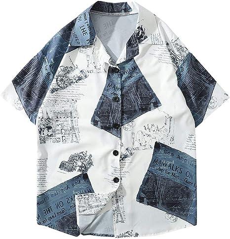 COOLIY_Hombre Camiseta Casual Suelta para Hombre Verano Kimono japonés Fit Abrigo Jacket cárdigan Kimono Estilo japonés Todo Impreso Bata Ligera con Mangas Unisex Negro M: Amazon.es: Ropa y accesorios