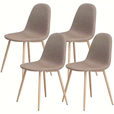 Amazoncom Dining Chairs Set Of 4 Comfortable Modern Style