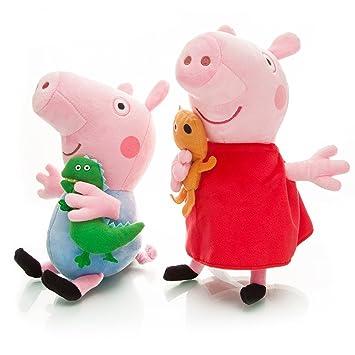 PEPPA PIG - 2 PELUCHES PEPPA   GEORGE PIG 20cm   PEPPA   GEORGE PLUSH TOYS 4adc05f6fca