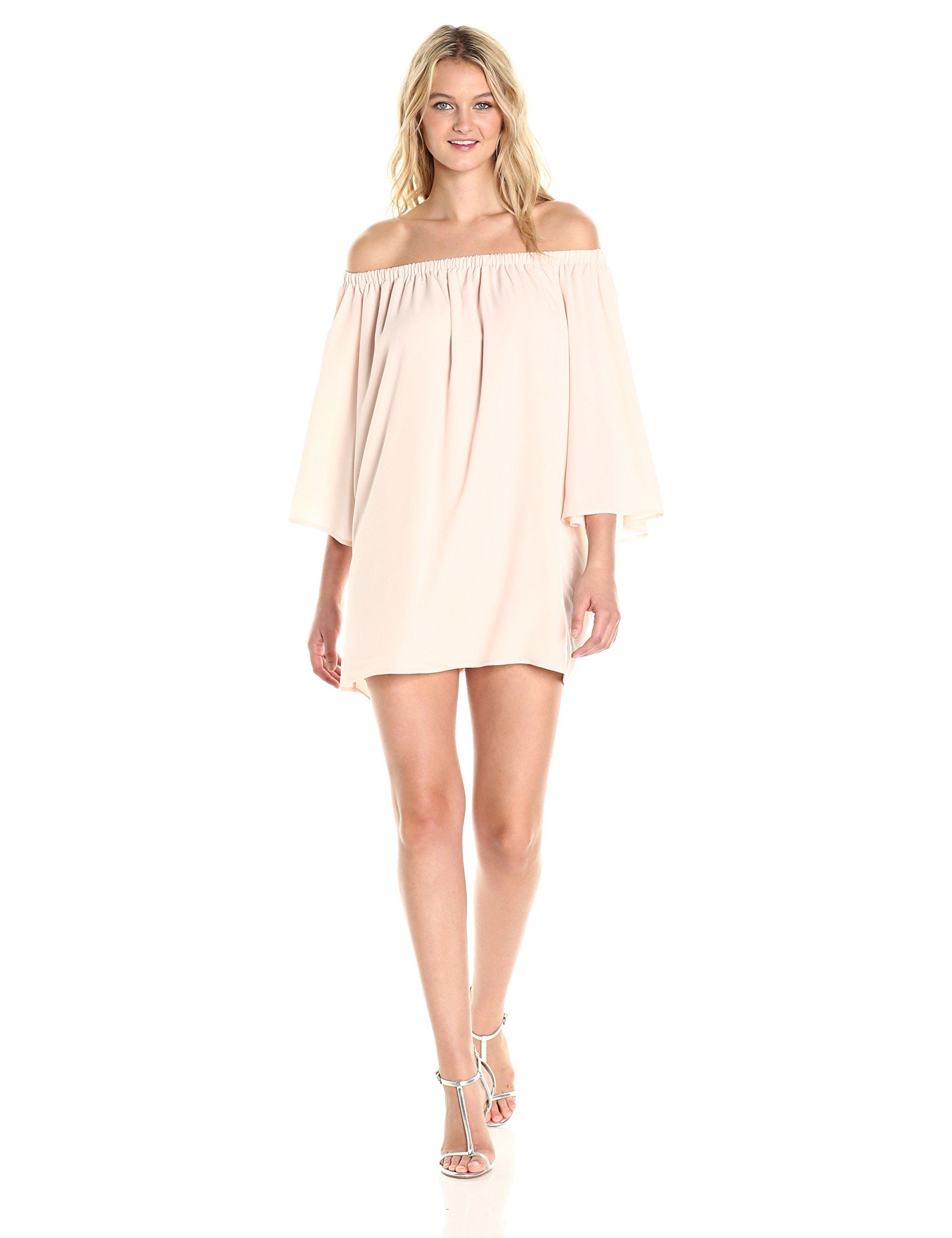 French Connection Women's Summer Crepe Light OTS Dress, Capri Blush, M