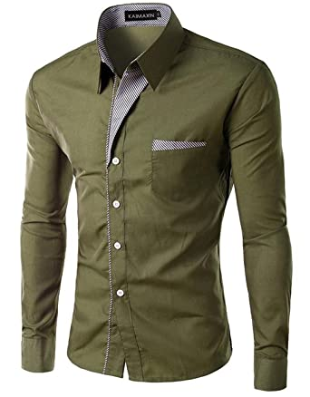 CSSY Spring Fashion Camisa ClothingMens Business Shirt Casual Long Sleeved Formal Chemise Homme Slim Camisas Hombre