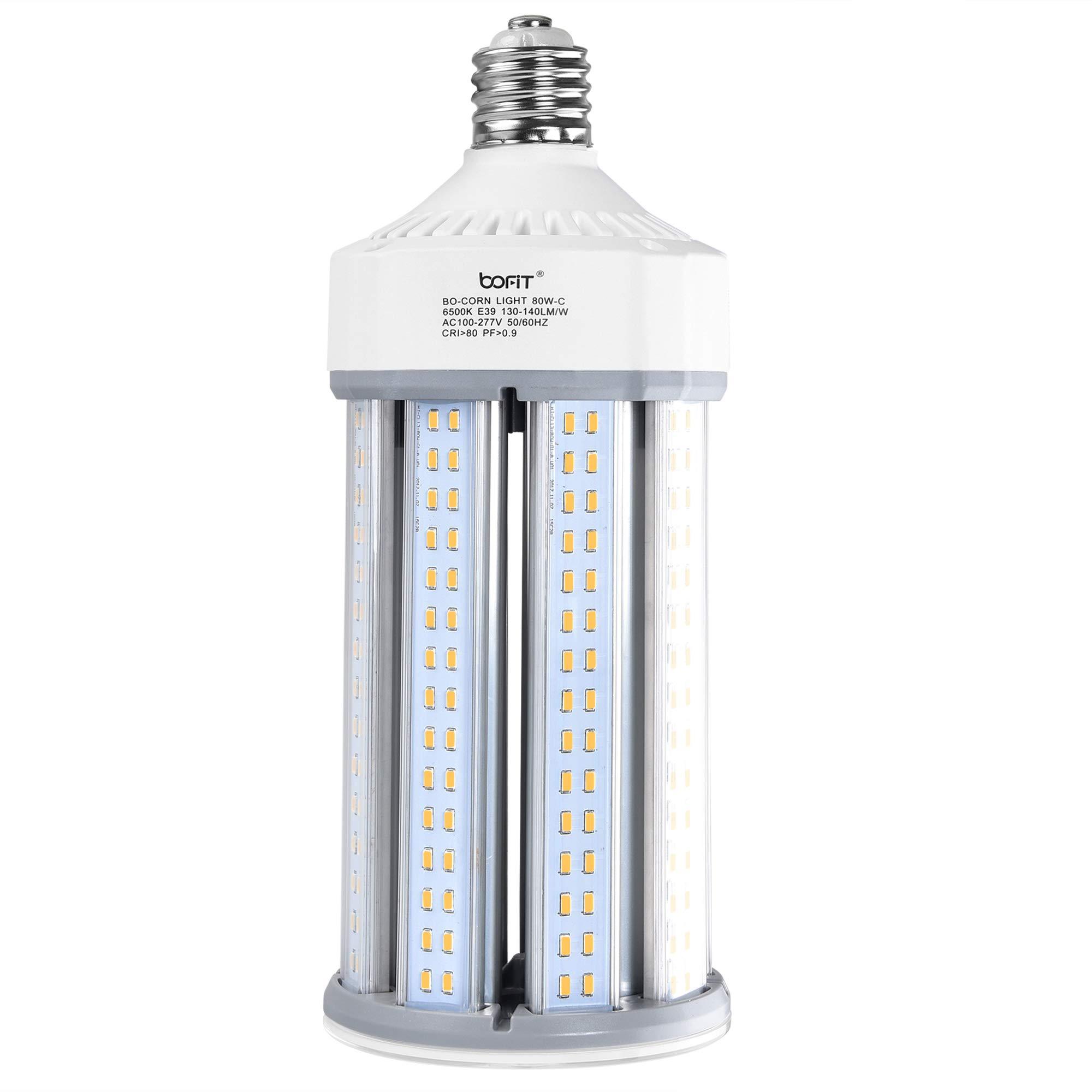 BOFIT 80W LED Corn Bulb, 11200LM (Replace 900W Incandescent Bulbs), 6500K Daylight White Area Light Bulbs, Large Mogul E39 Base, Street Light Bulb, LED Corn Light for Warehouse Garage Parking Lot