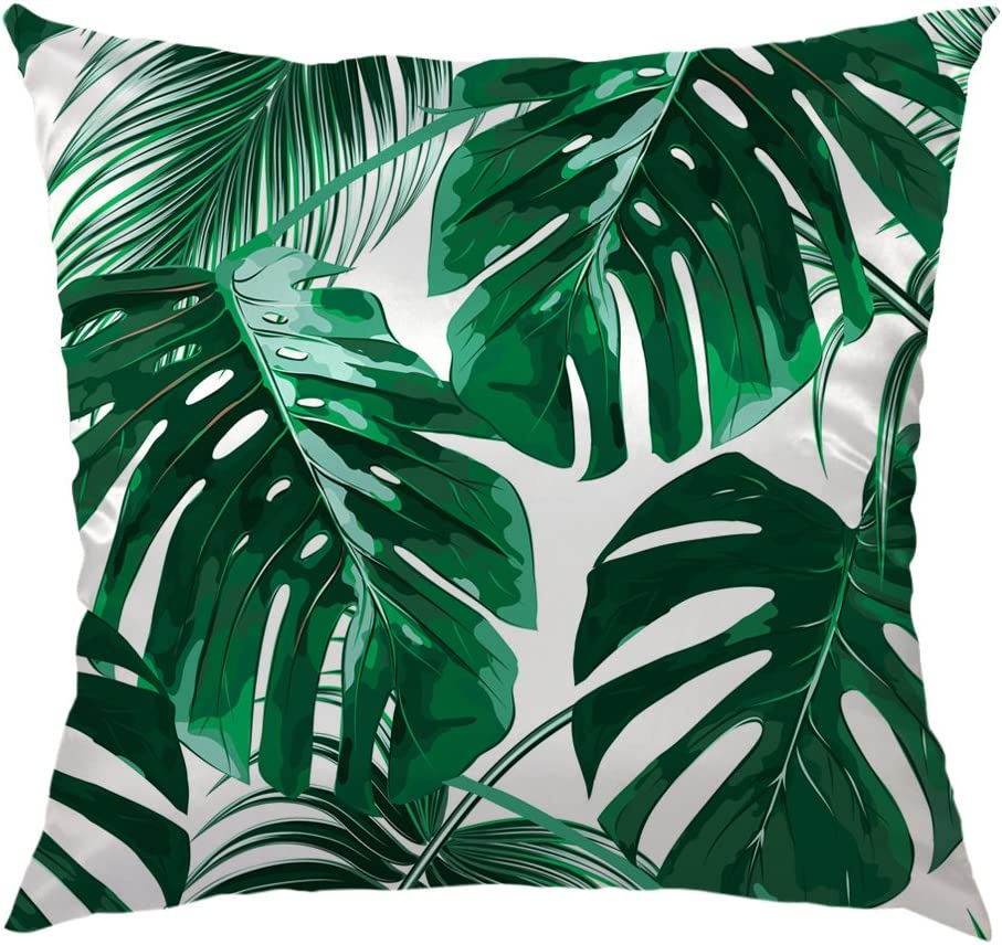 Amazon Com Hgod Designs Tropical Leaf Throw Pillow Case Beautiful Tropical Palm Tree Leaves Design Satin Cushion Cover Square Standard Home Sofa Decorative For Men Women 18x18 Inch Green Home Kitchen Check out this fantastic collection of purple leaves wallpapers, with 49 purple leaves background images for your desktop, phone or tablet. hgod designs tropical leaf throw pillow case beautiful tropical palm tree leaves design satin cushion cover square standard home sofa decorative for
