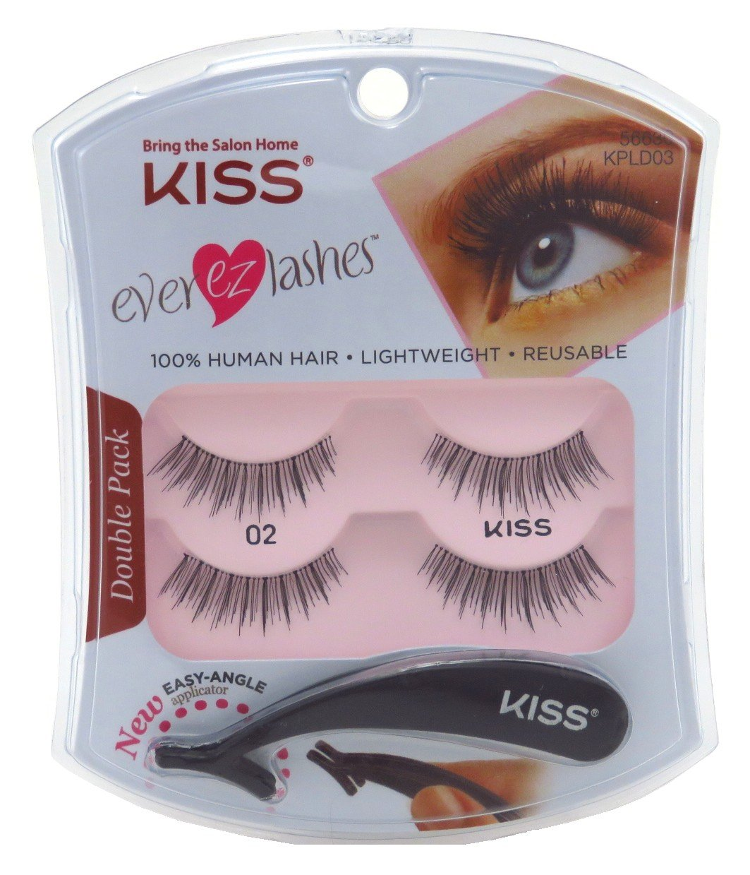 Kiss Ever Ez 02 Lashes Double Pack KPLD03