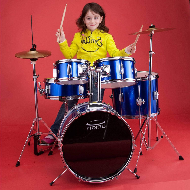 UJ5 5-Piece Junior Drumset w/Hardware, Cymbals & Throne - Dark Blue